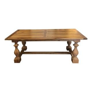 17th Century Restoration Hardware Monastery Rectangular Dining Table For Sale