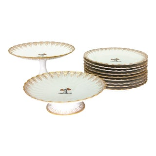 Late 19th Century Cake Service by Haviland Limoges - Set of 12 For Sale