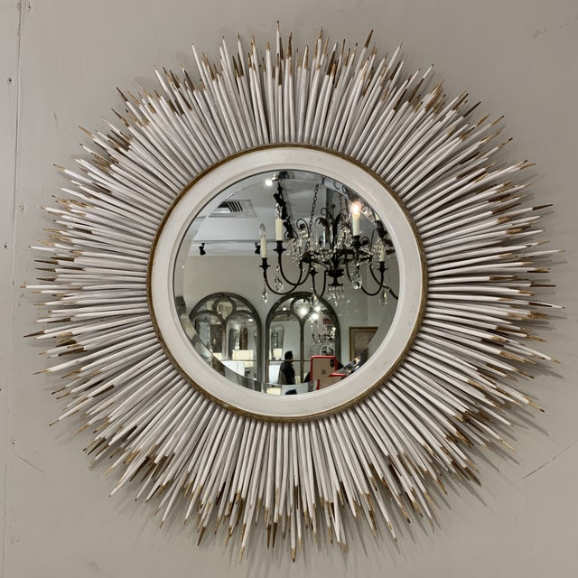 Hollywood Regency Faux Porcupine Mirror For Sale In Houston - Image 6 of 13