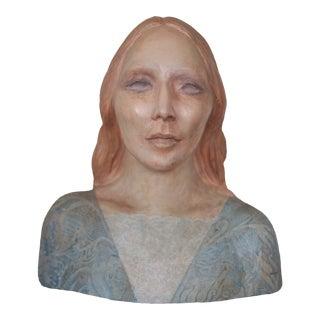Original Nadine Karnow Ceramic Bust Female Woman Studio Pottery Sculpture For Sale