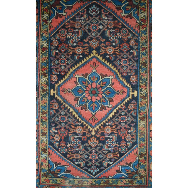 "Vintage Persian Hamadan Rug - 3'4"" x 4'10"" - Image 4 of 6"