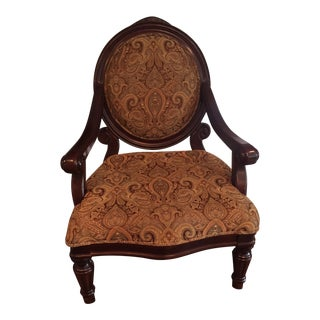 Tradition Paisley Round Back Club Chair