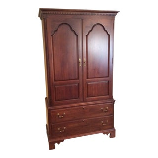 1990s Traditional Wooden Armoire For Sale