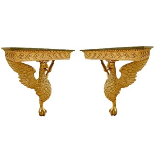 Pair of Period George II Eagle Console Tables in Manner of William Kent For Sale