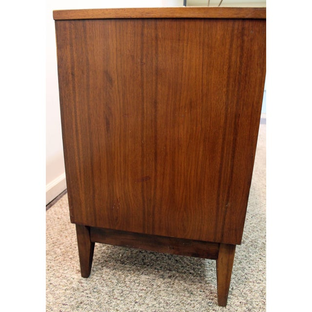 Dixie Mid-Century Danish Modern Walnut Credenza For Sale - Image 4 of 11