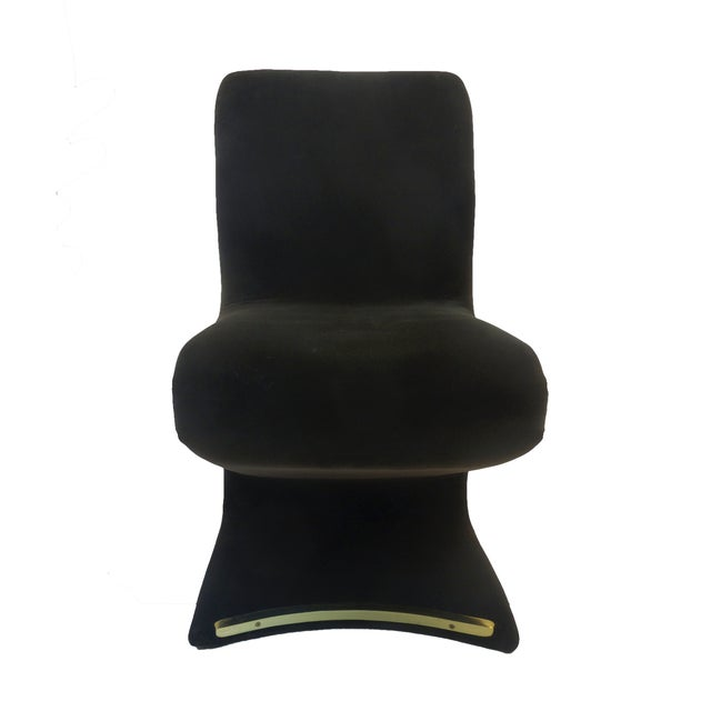 Panton Style Z Dining Chairs With Brass - Set of 6 - Image 3 of 8