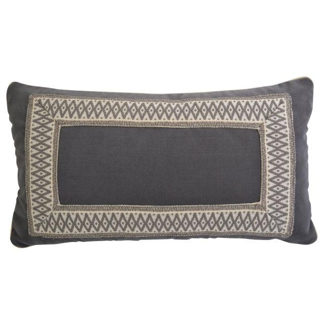 """Gray Velvet Custom Pillow - 22"""" x 12"""" - Image 1 of 6"""