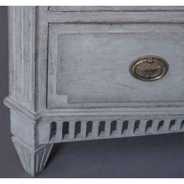 Metal Swedish Neoclassical 3-Drawer Chest For Sale - Image 7 of 8