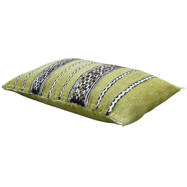 One-of-a-kind Moroccan pillow sham handwoven by the Berbers of the High Atlas Mountains. Features an ornate striped...