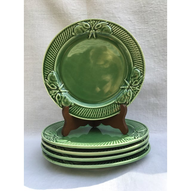 Ceramic Pinheiro Bunny Rabbit Luncheon Plates - Set of 5 For Sale - Image 7 of 7