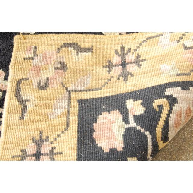 "Antique Black & Pink Oushak Rug- 3'5"" x 5'5"" - Image 6 of 6"