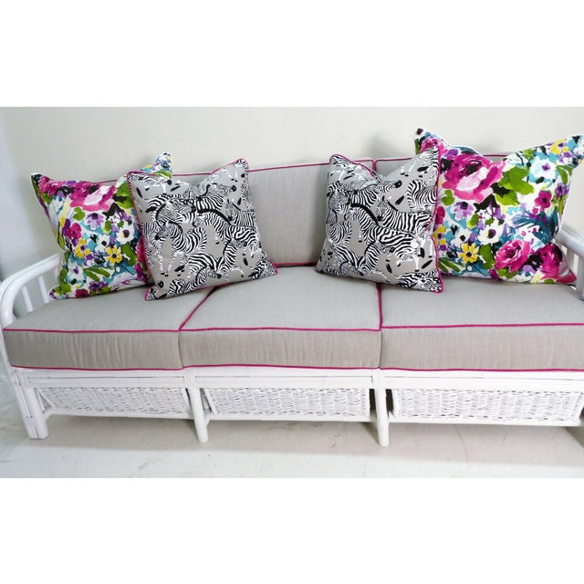 Colorful Floral Pillows - a Pair For Sale - Image 4 of 5