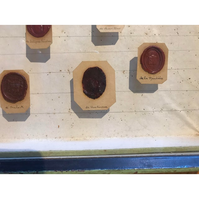 Framed 18th Century French Wax Seals For Sale - Image 4 of 7