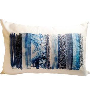Blue Colorway Lumbar Linen Pillow For Sale