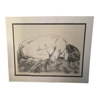 Large Scale Vintage Female Nude Drawing For Sale