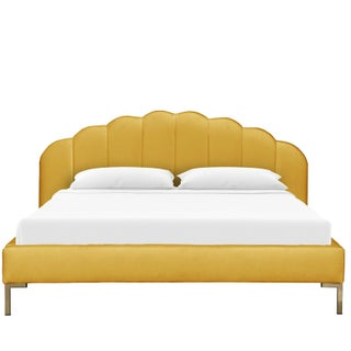 King Shell Platform Bed in Monaco Citronella Preview