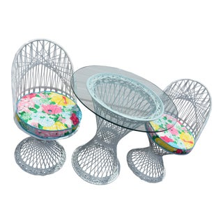 Russell Woodard Patio Set - Set of 3 For Sale