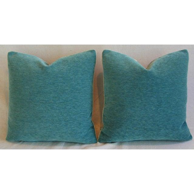 Schumacher Alexandra Floral Velvet Pillows - a Pair - Image 7 of 10