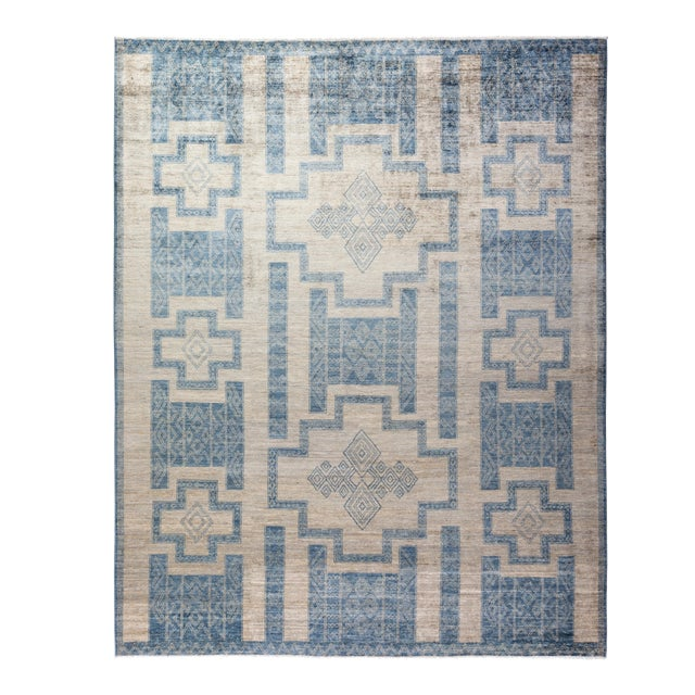"""Bohemian Hand-Knotted Area Rug 7' 10"""" x 10' 0"""" For Sale"""