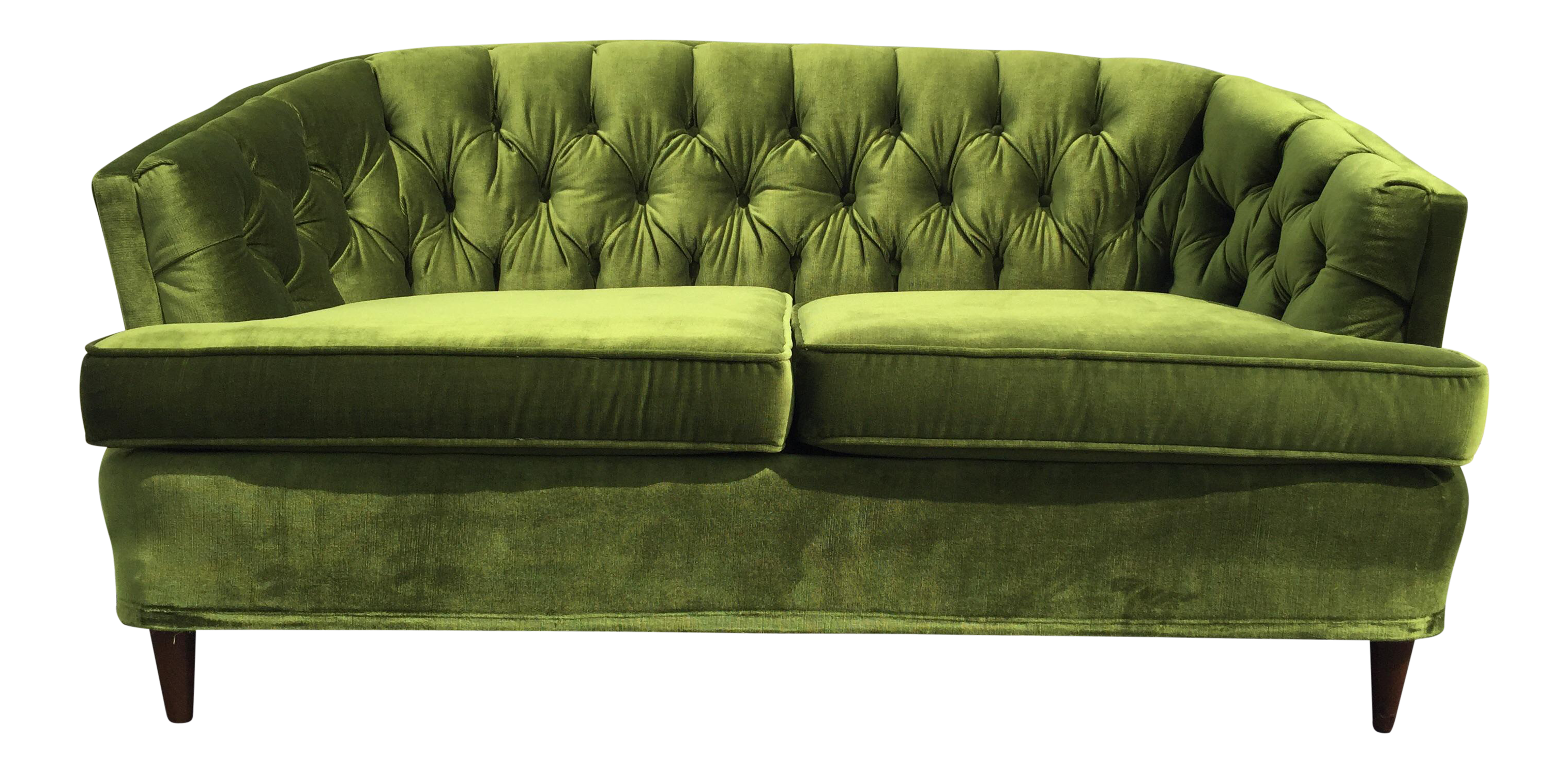 Vintage Citation By Kroehler Green Velvet Loveseat