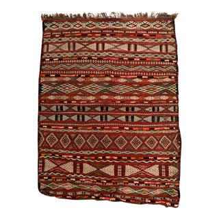 """Vintage Hand-Woven Moroccan Tribal Rug - 2'6"""" X 3'4"""" For Sale"""