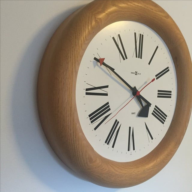MCM Howard Miller Wall Clock by George Nelson - Image 4 of 7