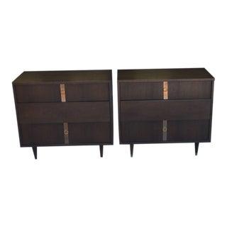 Vintage Kroehler Mid Century Walnut Dressers or Nightstands- a Pair