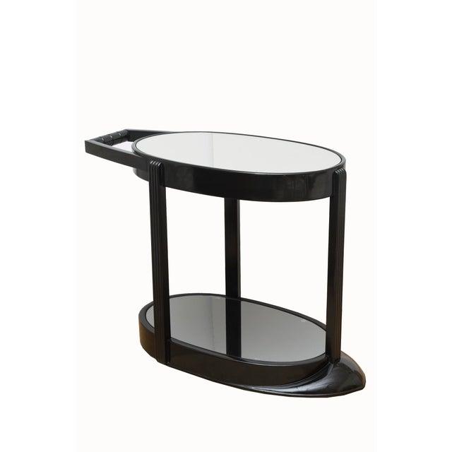 Art Deco Moderne Ebonized Sculptural Bar Cart or Trolley For Sale - Image 10 of 10
