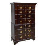 Image of Henredon Solid Mahogany Chippendale Chest of Drawers For Sale