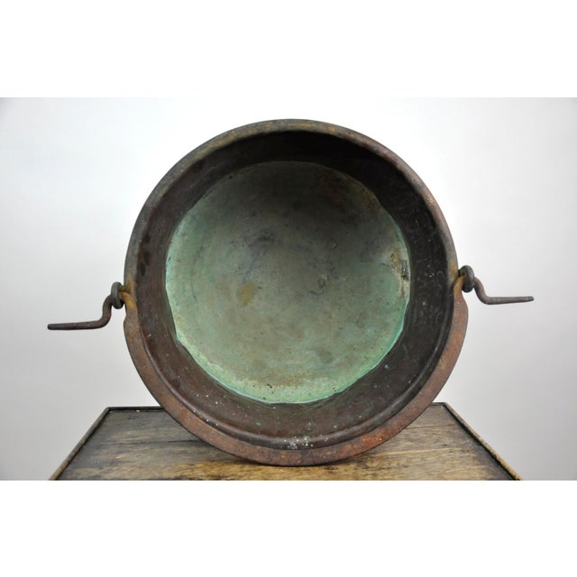 Antique French Copper Cauldron Kettle For Sale - Image 12 of 13