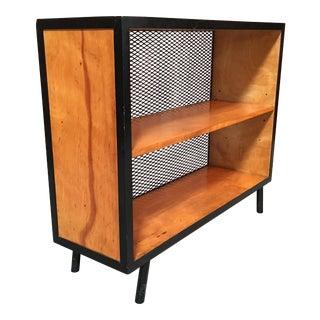 1950s Vista Furniture Co. Birch & Mesh Metal Bookcase