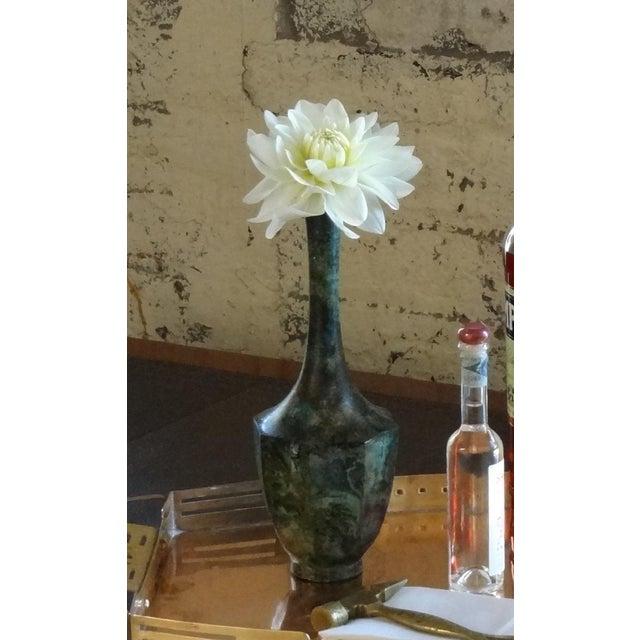 Asian Bronze Vase For Sale - Image 3 of 5