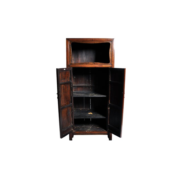 Early 20th Century Chinese Cabinet with Display Shelf For Sale - Image 5 of 11
