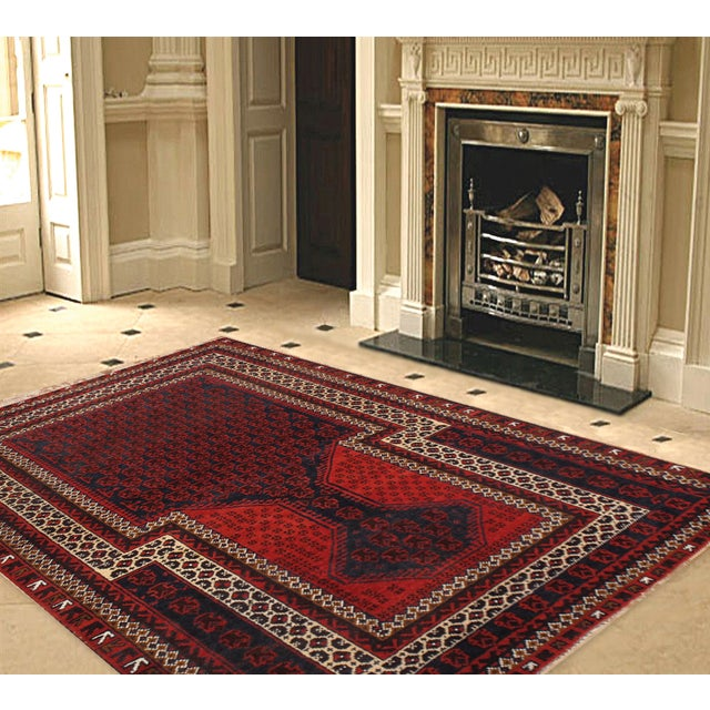 "Pasargad Balouch Collection Red Rug - 3' X 4'9"" - Image 2 of 2"
