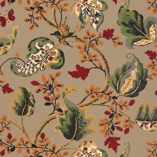 Sample - Schumacher Fox Hollow Wallpaper in Multi on Flannel For Sale
