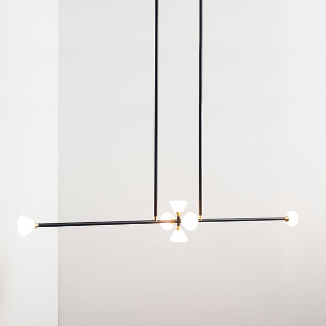 Apollo 6 Chandelier by McKenzie & Keim For Sale - Image 13 of 13