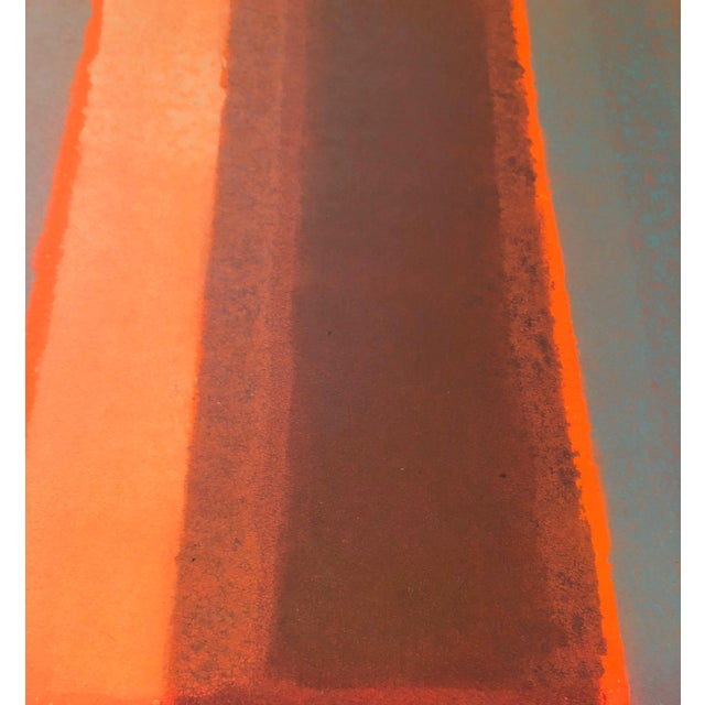 1980s 1980s Vintage Mariko Nutt Abstract Monoprint For Sale - Image 5 of 9