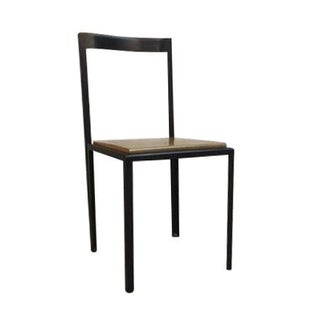 Steel & Wooden Chair by Henry MacNeill For Sale