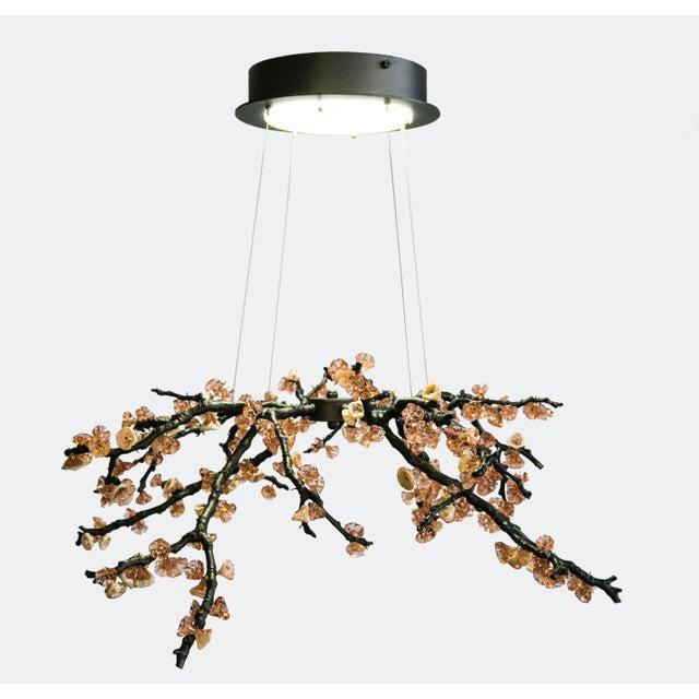 21th sculpture handmade chandelier almond three pendant lamp in cast 21th sculpture handmade chandelier almond three pendant lamp in cast brass glass image 9 aloadofball Gallery