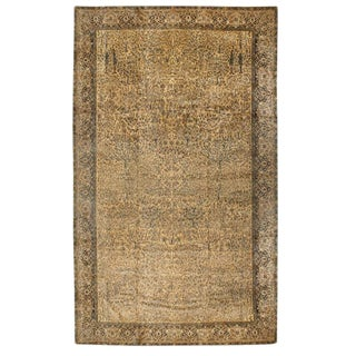 Antique Oversize Turkish Hereke Carpet For Sale