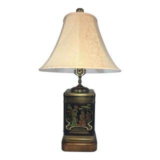 English Tole Japanese Tea Tin Lamp