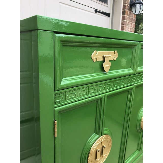 Vintage Chinoiserie Style Dresser by Dixie Furniture For Sale In Chicago - Image 6 of 9