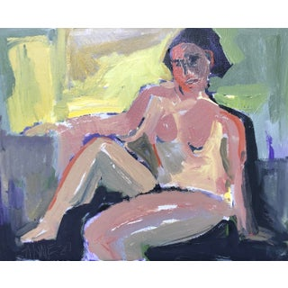"Lounging Abstract ""Figure at Dawn"" by Anne Darby Parker For Sale"