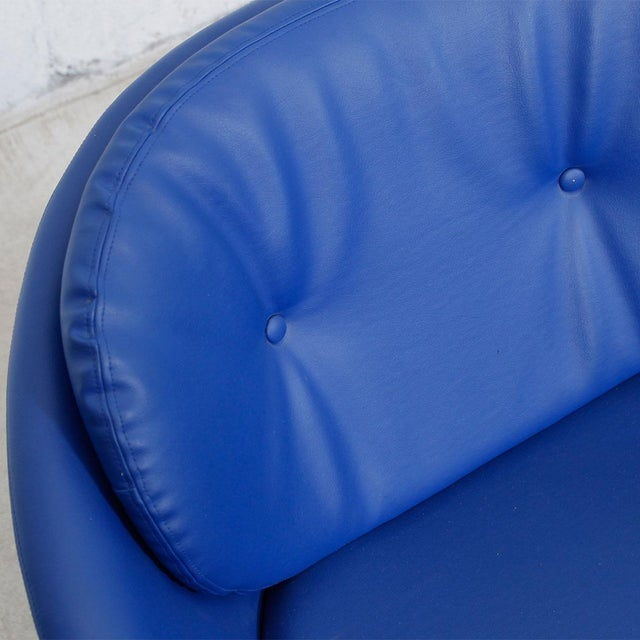 Blue 60s Swivel Pod Chair by Overman of Sweden - Image 7 of 10