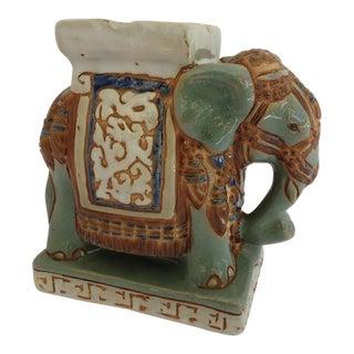 Mid Century Ceramic Elephant Ashtray For Sale
