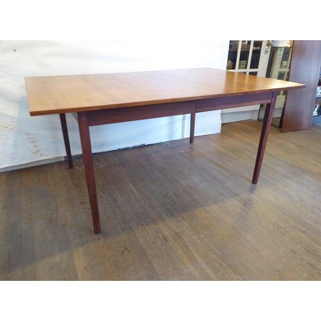 Modern Vintage Modern Walnut Dining Table For Sale - Image 3 of 8