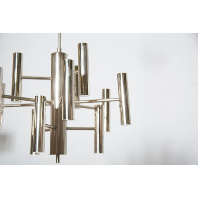 Multi Armed Sciolari Style Chandelier For Sale - Image 4 of 10