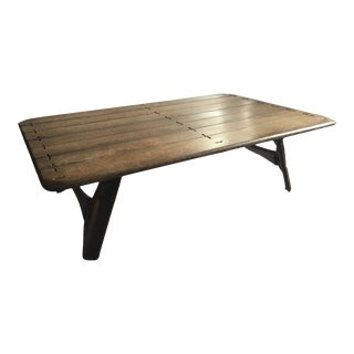 Late 20th Century Pacific Green Palmwood Coffee Table For Sale