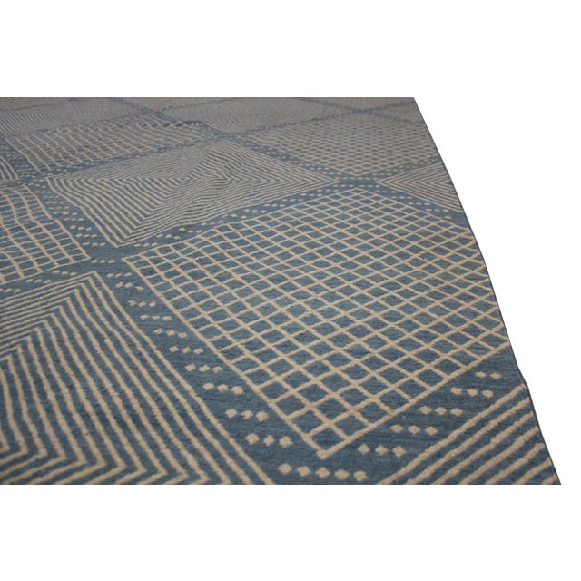 """Aara Rugs Inc. Hand Knotted Modern Kilim - 9'5"""" X 8'4"""" For Sale In Los Angeles - Image 6 of 6"""