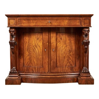 19th C. William IV Mahogany Cabinet For Sale